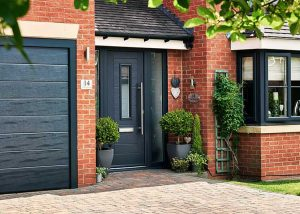 Endurance Door - Alto - Anthracite Grey with matching garage door & ENDURANCE COMPOSITE DOORS u2013 CMS Garage u0026 Front doors