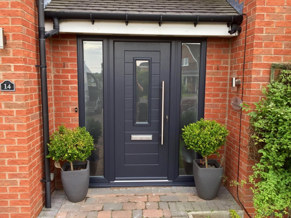Endurance doors alto anthracite grey for Composite front doors