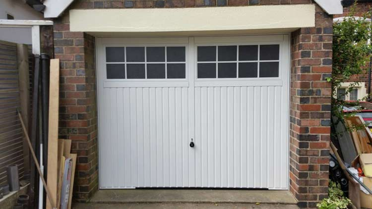 Hormann Ilkley Up And Over Door With Steel Security Plates