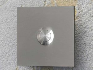 square stainless doorbell