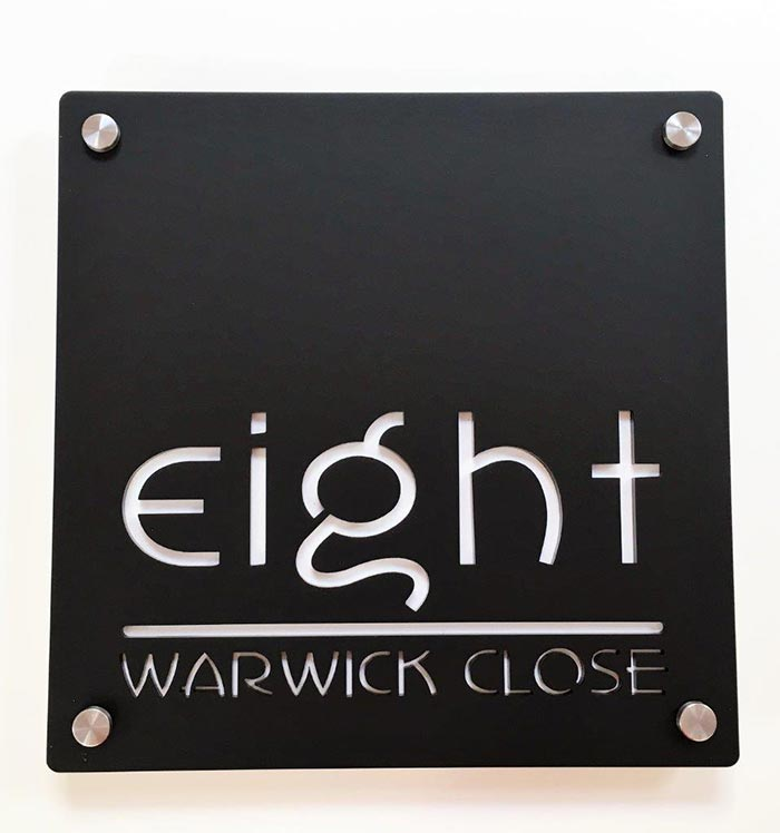 Bespoke designer house name signs