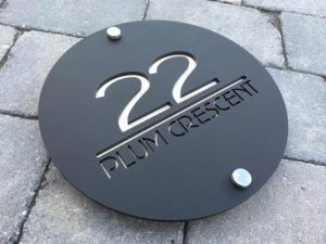 Bespoke house signs - 22 Plum Crescent