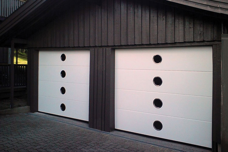 round-windows-garage-door