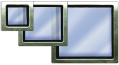 stainless steel window rectangle