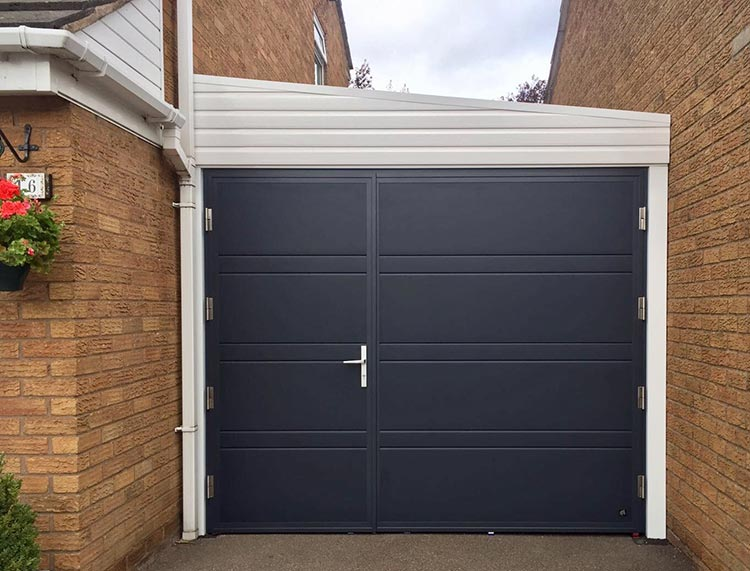 Ryterna side hinged garage door top rib & Cool Side Hinged Garage Doors Leicester Gallery - Exterior ideas 3D ...