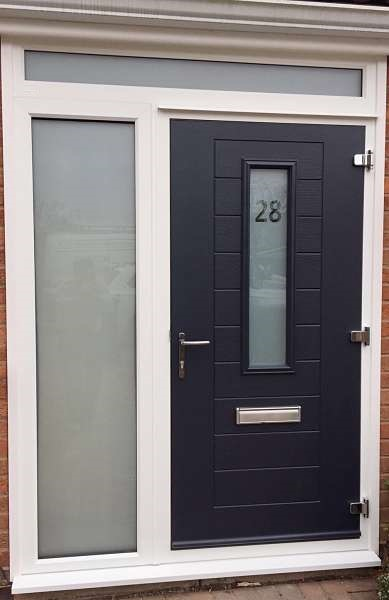 Endurance Doors Alto Anthracite Grey Amp White Frame