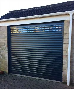 Alluguard 77 Roller door - Anthracite Grey with vision laths x3