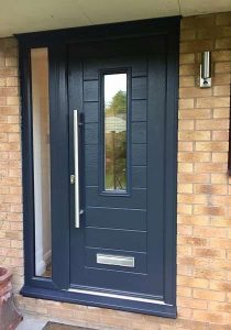 Endurance Doors - Alto - Anthracite grey with sidelight