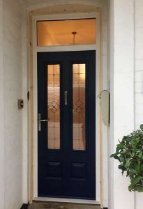Endurance Doors - Scafell - French Navy & spring glass