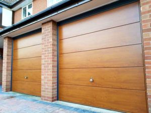 Garador Ascot up & overs - Golden oak with Anthracite grey frame