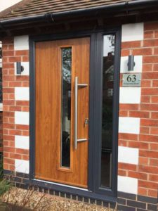 Endurance doors - Bleaklow - Golden Oak with Anthracite Grey frame