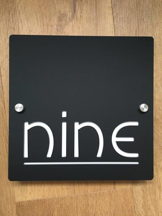 House name signs - Nine