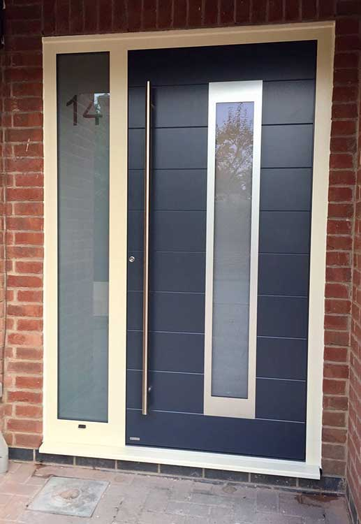 Rk Door 4090 Anthracite Grey Ral 1015 Cream Frame