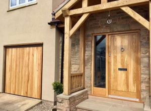 Hormann Open for Infill with Oak Panelling up & over