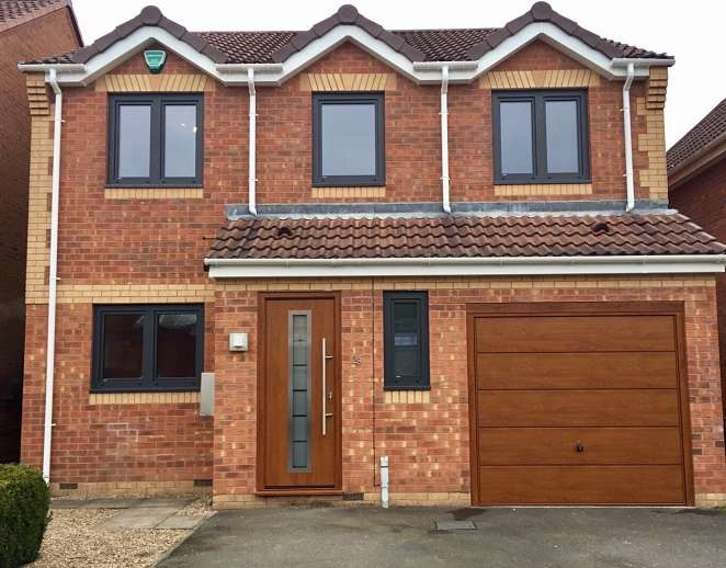 View of House - Hormann ThermoPro & Up & Over - Golden Oak
