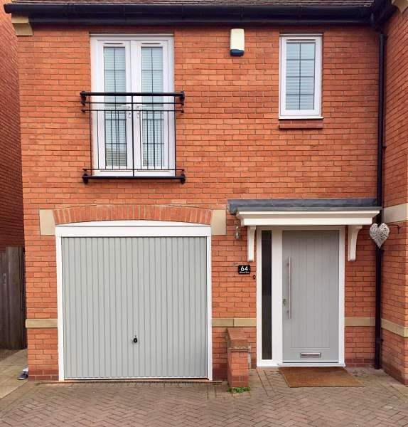 View of House - Endurance Door & Up & Over - Pearl Grey