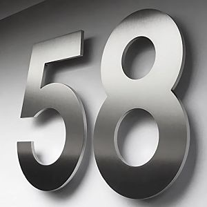 Stainless steel House number