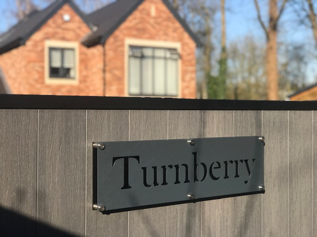 Aluminium Bespoke house sign