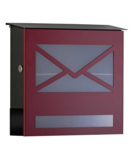 Letterbox in RAL 3011