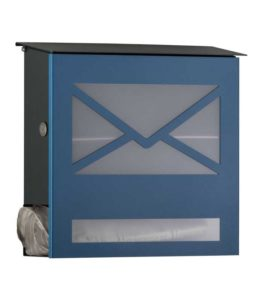 Letterbox in RAL 5007