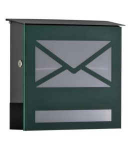 Letterbox in RAL 6005