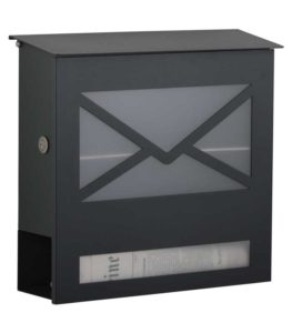 Letterbox in RAL 7016
