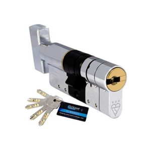 High Security cylinder - Thumbturn or Key option with x5 keys