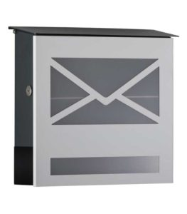 Letterbox in RAL 9003